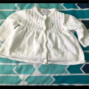 Janie and Jack Dress Button Up Sweater Baby 3-6M